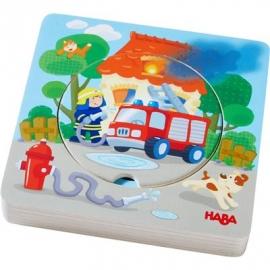 HABA® - Holzpuzzle Feuerwehr-Einsatz
