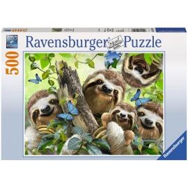 Ravensburger Puzzle - Faultier Selfie, 500 Teile