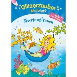 Tessloff - Malen, Rätseln & mehr - Glitzerzauber-Malblock - Meerjungfrauen