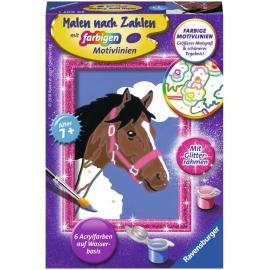 Ravensburger Spiel - Malen nach Zahlen mit Gitterramen - Pferd