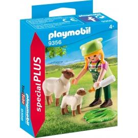 PLAYMOBIL 9356 - Special Plus - Bäuerin mit Schäfchen