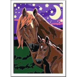 Ravensburger Spiel - Malen nach Zahlen Junior - Pferde