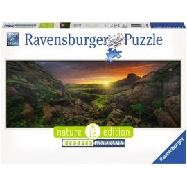 Ravensburger Puzzle - Panoramapuzzle - Nature 12 Edition - Sonne über Island, 1000 Teile