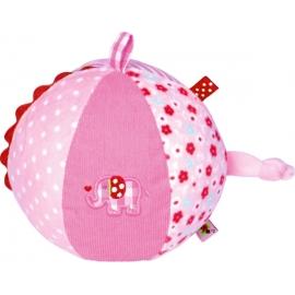 Stoffball mit Glockenspiel BabyGlück, ro