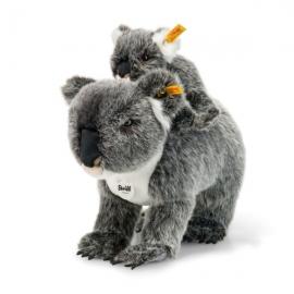 Koala mit Baby 31 grau/weiß g
