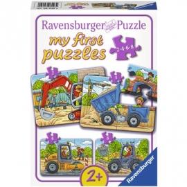 Ravensburger Puzzle - Meine liebsten Baustellenfahrzeuge, 8 Teile