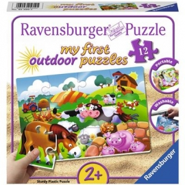 Ravensburger Puzzle - Liebe Bauernhoftiere, 12 Teile