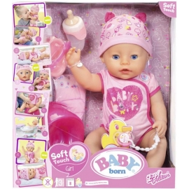 Zapf Creation - Baby born Soft Touch Girl Blue Eyes