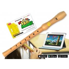 Voggenreiter - Flute Master (App) mit Blockflöte aus Bergahorn (bar. GW)
