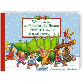 Oetinger - Wenn sieben weihnachtliche Hasen fröhlich um die Tanne rasen