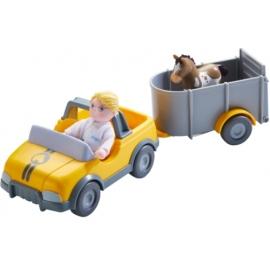 HABA Little Friends ? Tierarzt-Auto mit Anhänger
