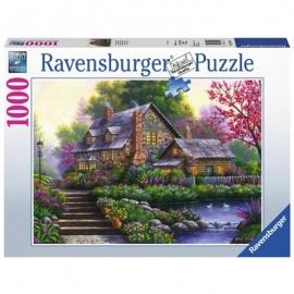 Ravensburger Puzzle - Romantisches Cottage, 1000 Teile
