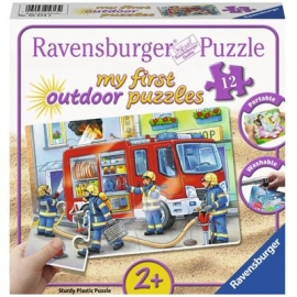 Ravensburger Puzzle - my First Outdoor Puzzle - Die Feuerwehr saust herbei, 12 Teile