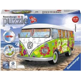 Ravensburger Puzzle - 3D Puzzle - Volkswagen T1 - Hippie Style, 162 Teile
