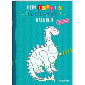 Tessloff - Malen & Rätseln und mehr - Mein buntes Glitzerzauber-Malbuch, Drache/türkis