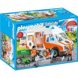PLAYMOBIL 70049 - City Life - Rettungswagen mit Licht und Sound
