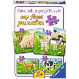 Ravensburger Puzzle - my First Puzzle - Unsere Lieblingstiere, 8 Teile