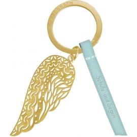 Schlüsselanhänger Schutz und Segen mit Flügelanhänger