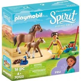 PLAYMOBIL 70122 - Spirit - Riding Free - Pru mit Pferd und Fohlen