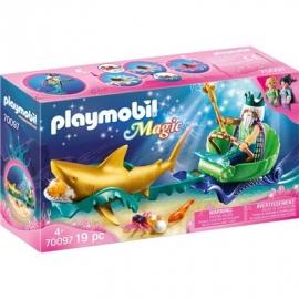 PLAYMOBIL 70097 - Magic - Meereskönig mit Haikutsche