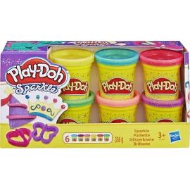 Hasbro - Play-Doh - Glitzerknete