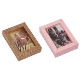 Mini Glitzer-Bilderrahmen I LOVE HORSES, sortiert