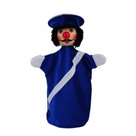 KERSA Handspielpuppe Polizist,blau Beni