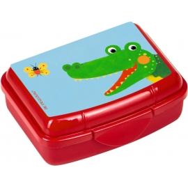 Die Spiegelburg - Freche Rasselbande Mini-Snackbox Krokodil, ca. 9,5 x 6,5 x 3,5 cm, Bisphenol A fre