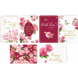 Grußkarten mit Kuvert Jane Austen (M. Bastin) 6 x 4 Ex.sort.
