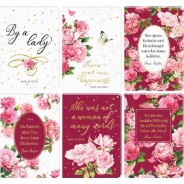 Notizhefte DIN A6 Jane Austen (M. Bastin) 6 x 2 Ex.sort.