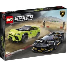 LEGO® Speed Champions 76899 Lamborghini Urus ST-X & Lamborghini Huracán Super Trofeo EVO