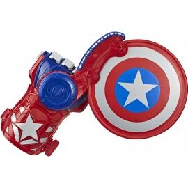 Hasbro - Nerf Power Moves Marvel Avengers Captain America Schild Attacke