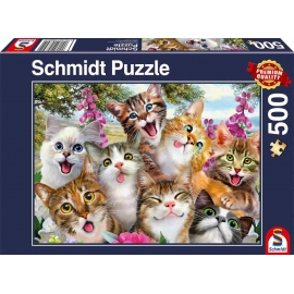 Schmidt Spiele - Puzzle - Katzen-Selfie, 500 Teile