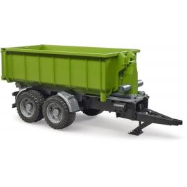 Bruder 03181 Hakenlift-Anhänger für Traktoren