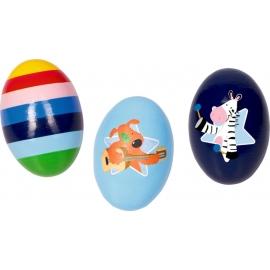 Rassel-Ei Die Lieben Sieben, sortiert