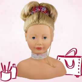 Frisierkopf Haarwerk, blond