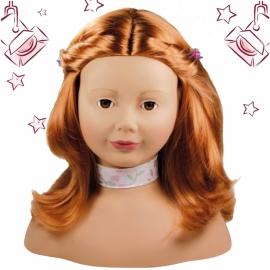 Frisierkopf Haarwerk, rot