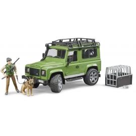 Bruder - Land Rover Defender Station Wagon mit Förster und Hund