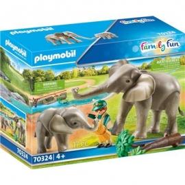 Playmobil® 70324 - Family Fun - Elefanten im Freigehege