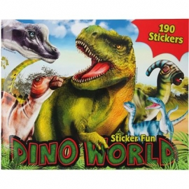 Depesche - Dino World - Stickerfun, Malbuch mit Stickerbogen