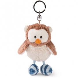 NICI - The Owlsons - Schlüsselanhänger Eule Oscar 10cm mit Gelenk, Kopf drehbar