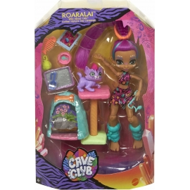 Mattel - Cave Club Katzenspaß mit Roaralai Spielset & Puppe
