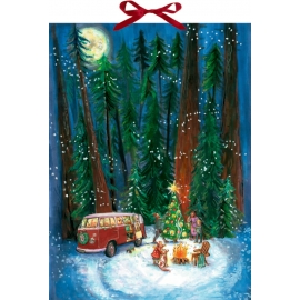 Outdoor-Christmas, Wand-Adventskalender