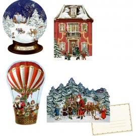 Nostalgische Weihnachten, Mini-Adventskalender-sortiert  (Behr)