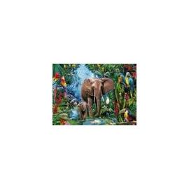 Ravensburger 12901 Puzzle Dschungelelefanten