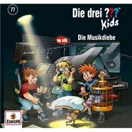 Europa - CD Die drei ??? Kids - Die Musikdiebe , Folgen 77