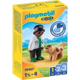 Playmobil® 70407 - 1.2.3 - Tierarzt mit Hund