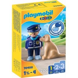 Playmobil® 70408 - 1.2.3 - Polizist mit Hund