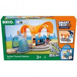 BRIO Bahn - Smart Tech Sound Bahnhof mit Action Tunnel