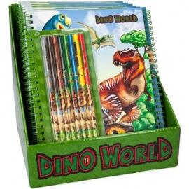 Depesche - Dino World - Malbuch mit Buntstiften